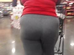 Phat Mature Ass in Grey Sweats Quick Follow