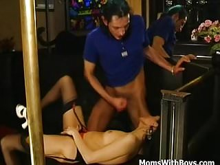 Hot MILF Stripper Fucked In The Club