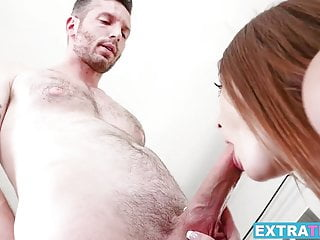 Teenage princess Danni Rivers gagging on big solid cock