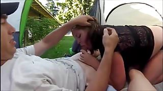 BBW Threesome in a Tent