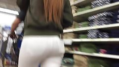 DW Young wife with great ass in white jeans