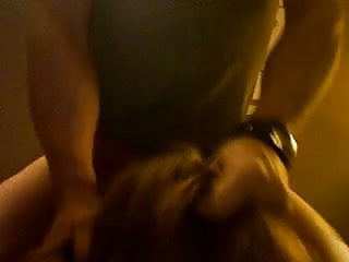 dumb whore chokes on cock and gets slapped with a facial