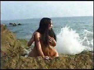 Tender girl girl love on a beachFM 14