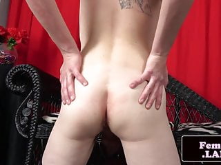 Preview 5 of Stockinged amateur trans tugging her cock