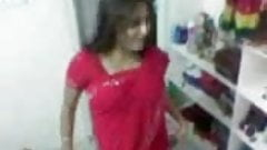 Red Saree College Girl sex wi