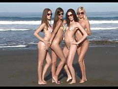 Bikini Pleasure-four slender Girls in four Colors