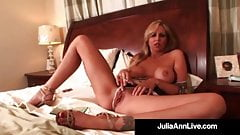 Busty Blonde Milf Julia Ann Smokes A Cig & Plays With Pussy!