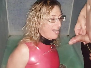 Download video bokep Golden Shower Pissing on Pink Latex Dress . Mike and Lisa  Mp4 terbaru
