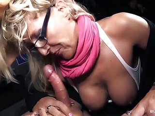 Bums Bus - Hot reality bus fuck with mature German blondie