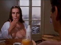 Emmanuelle Seigner and her milk for breakfast