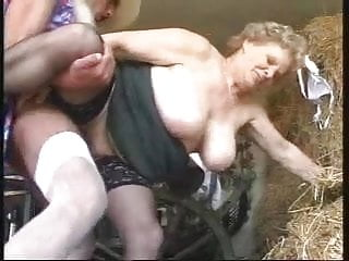 GRANNY WITH BIG BOOBS FUCKED BY Man dressed as a woman