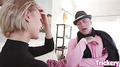 Trickery - Emma Hix gets tricked into sex with her stylist's Thumb
