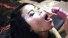 She Stroked Him Off and Drained His Balls ALL OVER Her Face