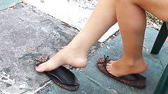 Teen Girl Feet - Dangling Perfect