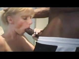 Milf gets some hot black cock.