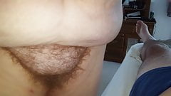 her hairy pussy, big tits, hairy ass on my cock