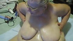oil on titys on cam