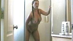 milf masturbating in the shower