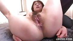 Maiki Sarada sandwitched in a steamy threesome
