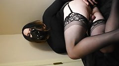 Chastity Sissy Plays with Butt Plug