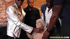 Bella Jane Interracial Group Sex In Front Of Cuckold