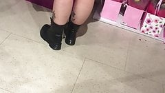 Chunky legs in Doc martins (Sexy Slut)
