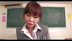 Horny Japanese Teacher Gives Head And Titty Fucks A Dick