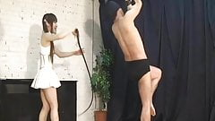 Hard whip with Japanese Mistress