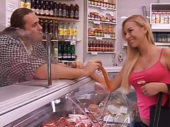 SLUT TEEN IN BUTCHER SHOP - saf