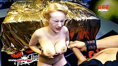 Angel Wicky gets her Big Tits Covered with Cum - German Goo