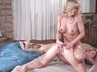 Horny StepMom Can't Respect Daughter's Sleepover