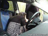 Slutwife fucked by strangers in her car