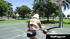 Plump Nina Kayy Gets Her Thick Twat Plowed By Big Black Cock