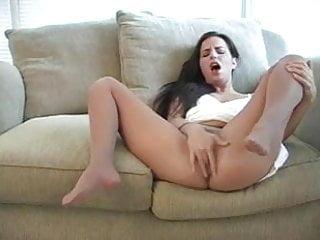 Seamless pantyhose masturbates #6
