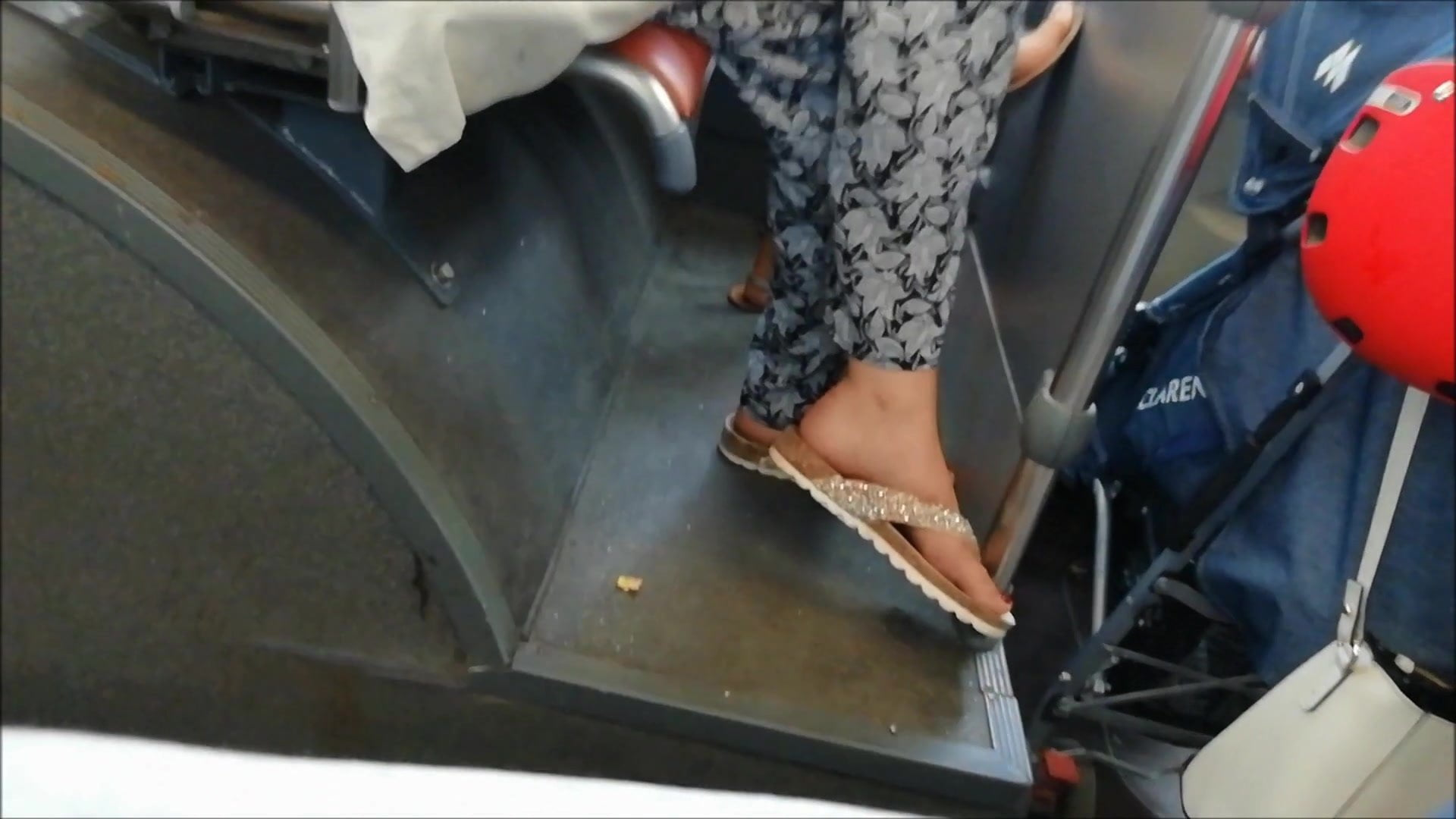 (2) Candid Feet on the bus (& faceshot)