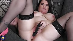 Modern mature mother with amazing tits