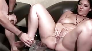 various girls pissing on each other