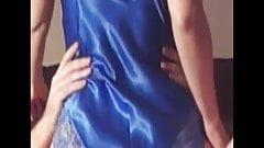 Blue satin body