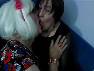 Miss Jennifer and Joanne kissing and fondling