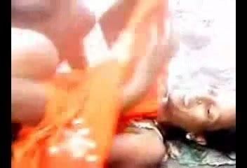 Desi Villager Wife Getting Fucked In Open Besides River