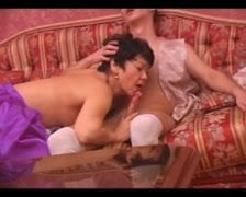 Sizzling Asian MILF Takes on Russian Dick Half 1