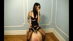caned and whipped while scrubbing floors