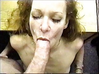 Dirty talking milf gets a facial