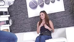 Daphne Klyde makes guy very hard in casting