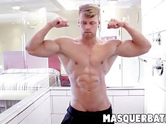 Brad is muscular hunk who loves to show of and masturbate