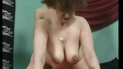 Horney mom with nice body, ugly face, saggy jumping boobs
