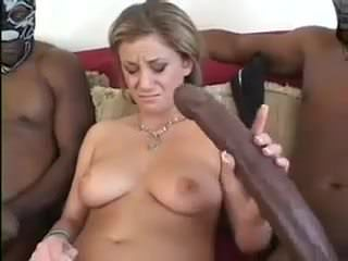 Girlfriend oiled solo interracial