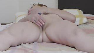 Mature wife masturbation after bath