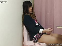 School uniform girl masturbation