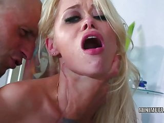 Perky coed Rebecca Blue takes some dick from an older guy